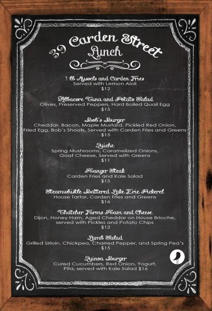 Lunch Menu Spring 2014